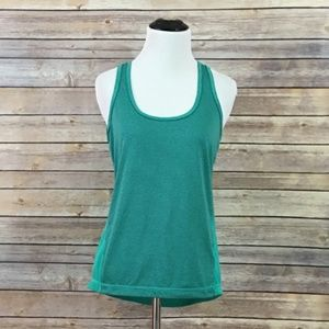 Z by Zella Striped Racerback Tank – Green